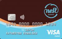 Wygląd karty debetowej wydawanej do Nest Konto