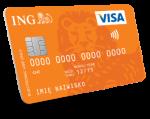 Wizerunek standardowej karty debetowej dla konta direct w ing